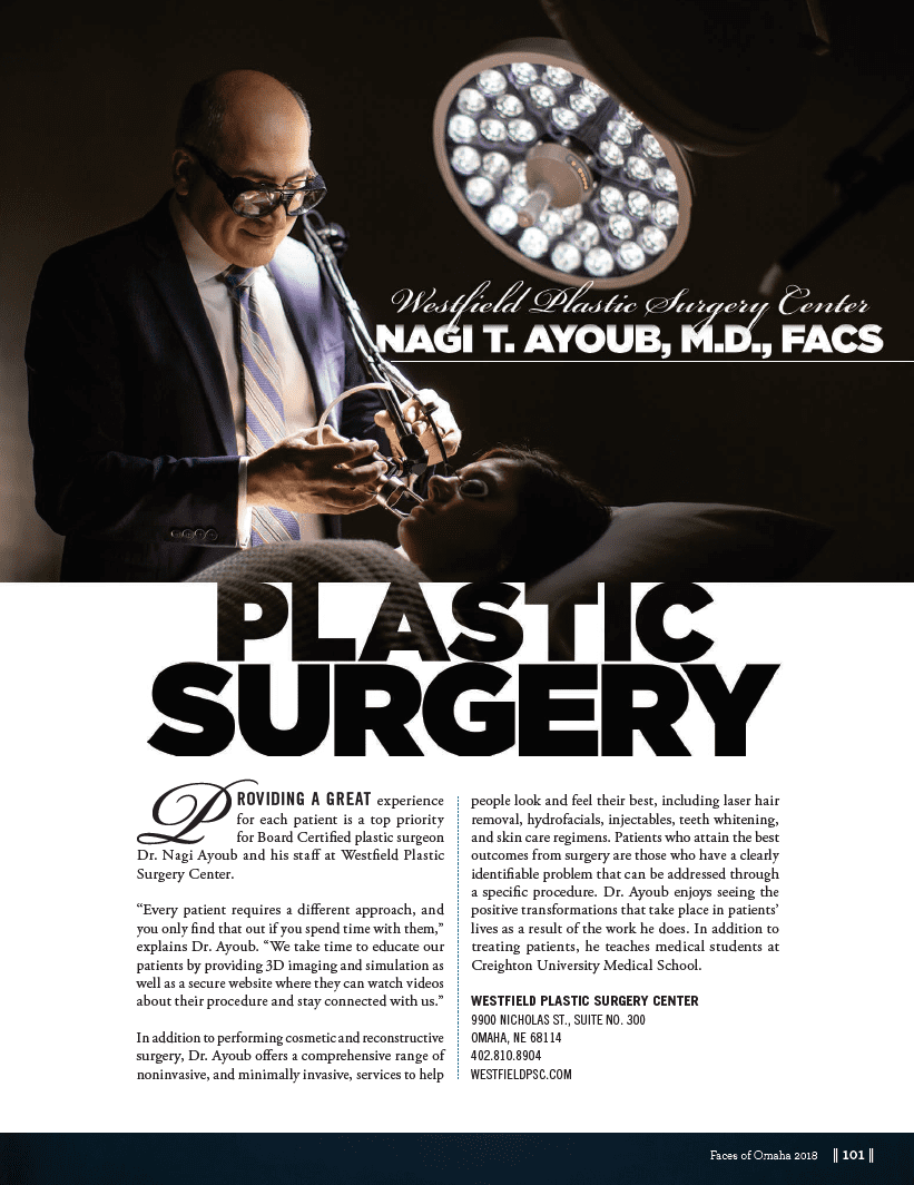 Dr. Ayoub Featured in Faces of Omaha Magazine