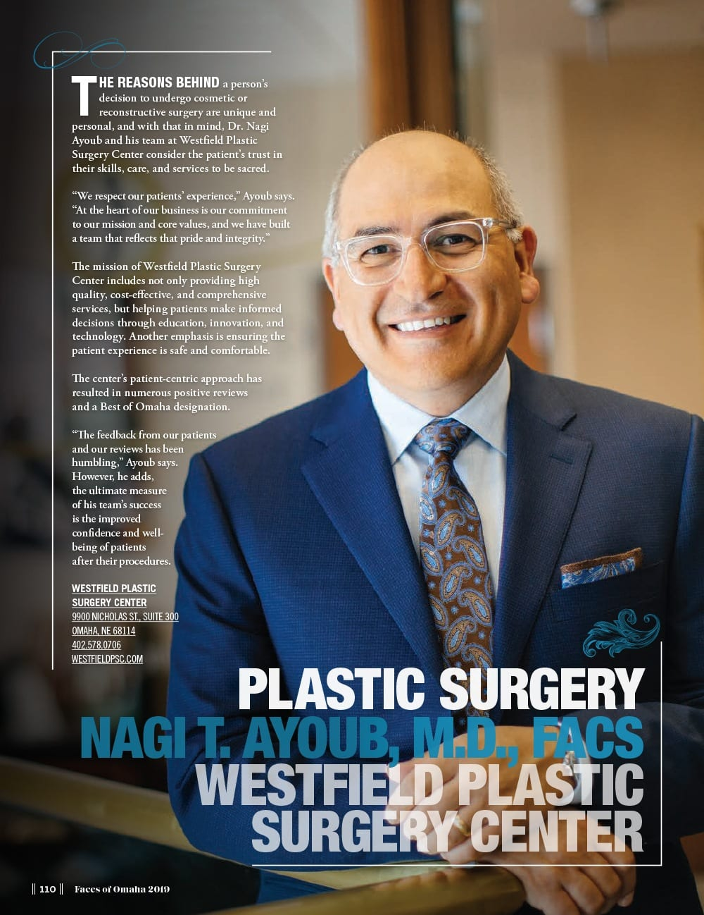 Dr. Ayoub in Faces of Omaha Magazine
