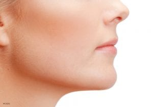 Right Side of Female's Smooth Chin and Cheek