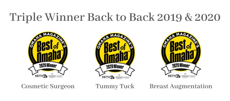 Triple Winner 2019 & 2020 Best of Omaha Badges